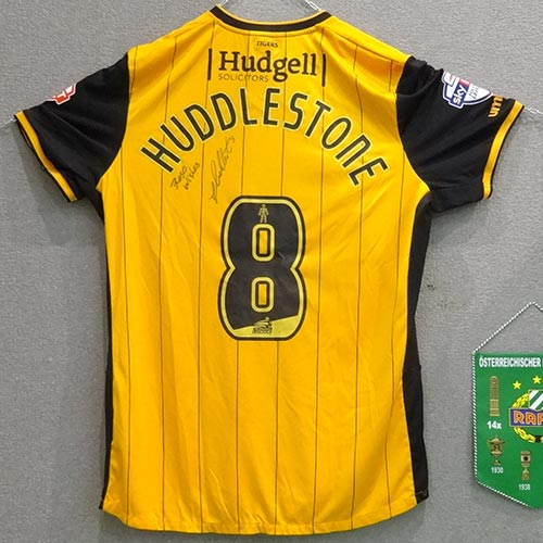 yellow jersey of huddlestone at gallini cup hall of fame