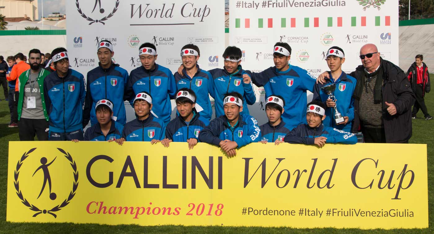team from japan at gallini cup in italy