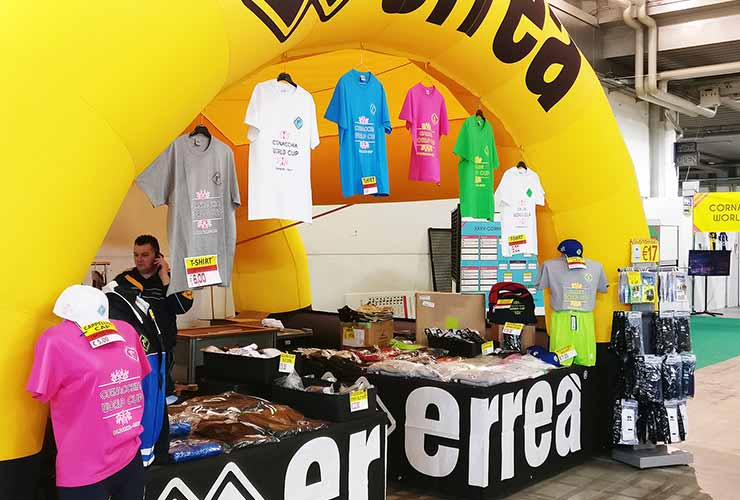 errea stand with t-shirts of gallini cup